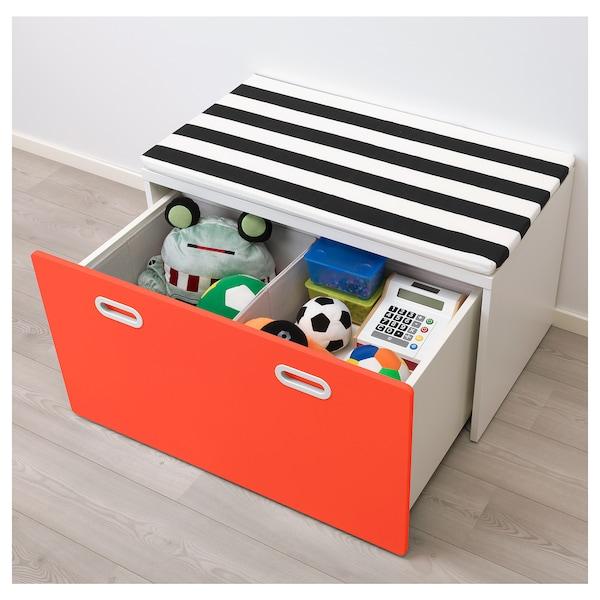 STUVA / FRITIDS banc avec rangement jouets blanc/rouge 90 cm 50 cm 50 cm