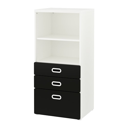 stuva fritids biblioth que avec tiroirs blanc surface. Black Bedroom Furniture Sets. Home Design Ideas