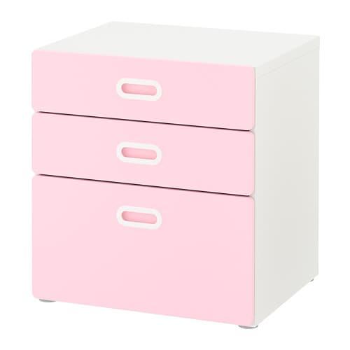 STUVA   FRITIDS Commode 3 tiroirs - blanc rose clair - IKEA fe65c425c29