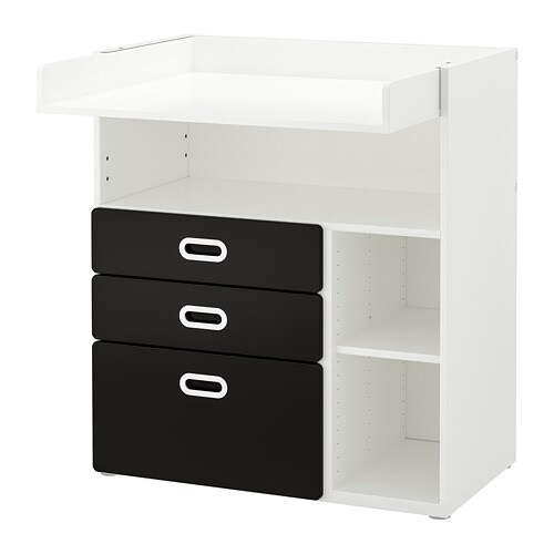stuva fritids table langer tiroirs blanc surface tableau noir ikea. Black Bedroom Furniture Sets. Home Design Ideas