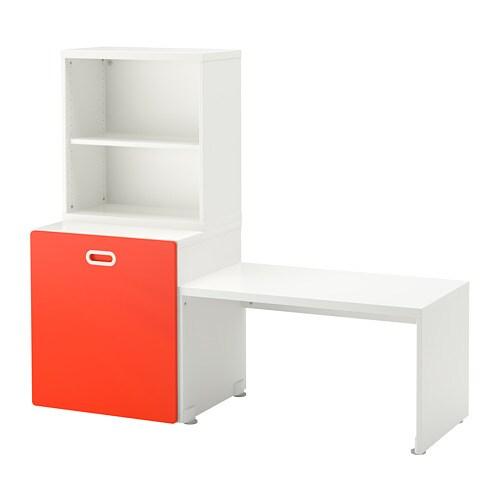 Stuva Fritids Table Avec Rangement Jouet Blanc Rouge Ikea