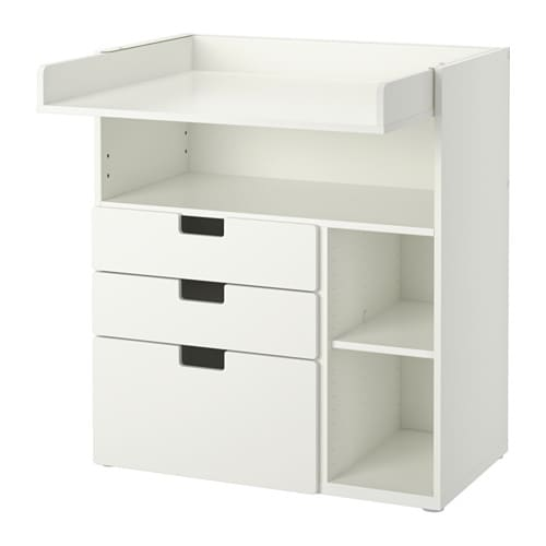 stuva table langer 3 tiroirs blanc ikea. Black Bedroom Furniture Sets. Home Design Ideas