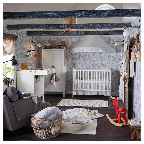 SUNDVIK Lit bébé, blanc, 60x120 cm