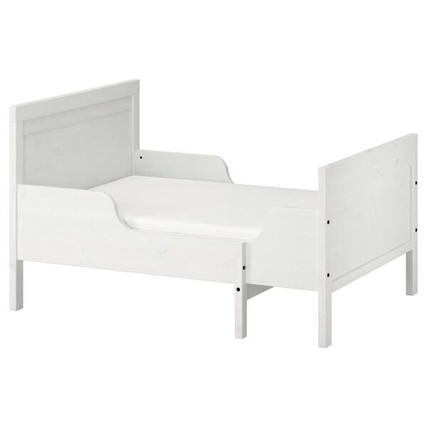 SUNDVIK Struct lit ext av sommier à lattes, blanc, 80x200 cm