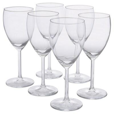 SVALKA Verre à vin blanc, verre transparent, 25 cl