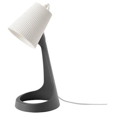 SVALLET Lampe de bureau, gris foncé/blanc
