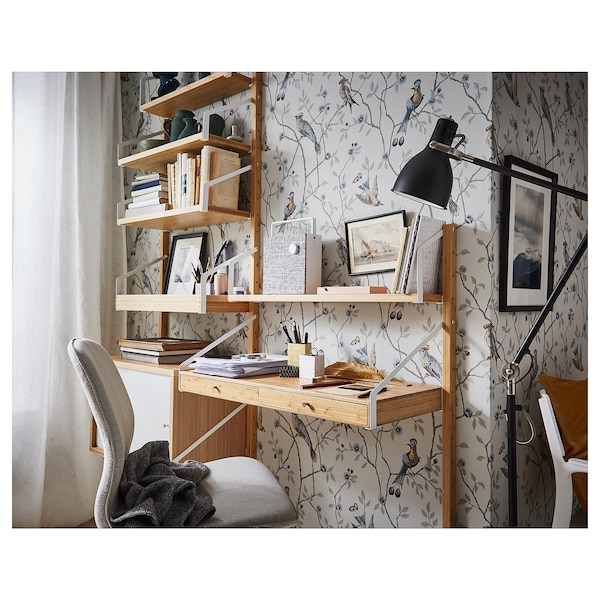 IKEA SVALNÄS Combinaison de bureau murale