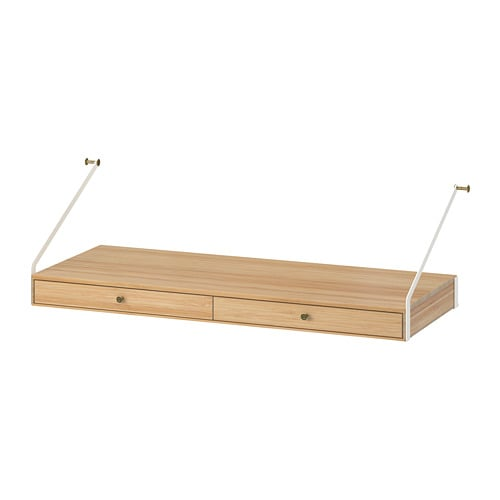 svaln s bureau avec 2 tiroirs ikea
