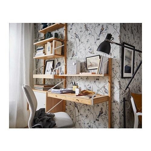 SVALNÄS Combinaison de bureau murale IKEA Combinez rangements ouverts et fermés pour exposer ou dissimuler vos objets selon vos préférences.