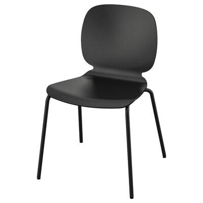 SVENBERTIL Chaise, noir/Broringe noir