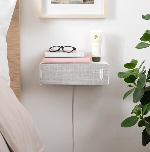 SYMFONISK enceinte étagère WiFi blanc 10 cm 15 cm 31 cm 150 cm