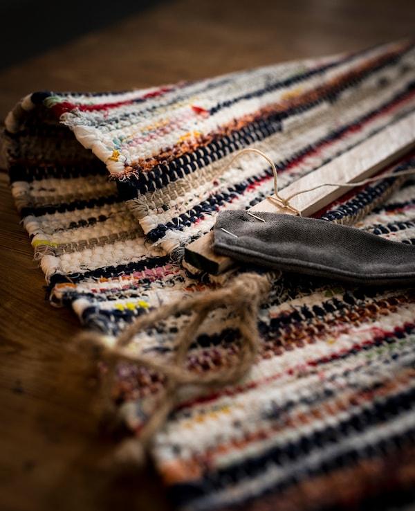 TÅNUM tapis tissé à plat coloris assortis 90 cm 60 cm 4 mm 0.54 m² 1350 g/m²