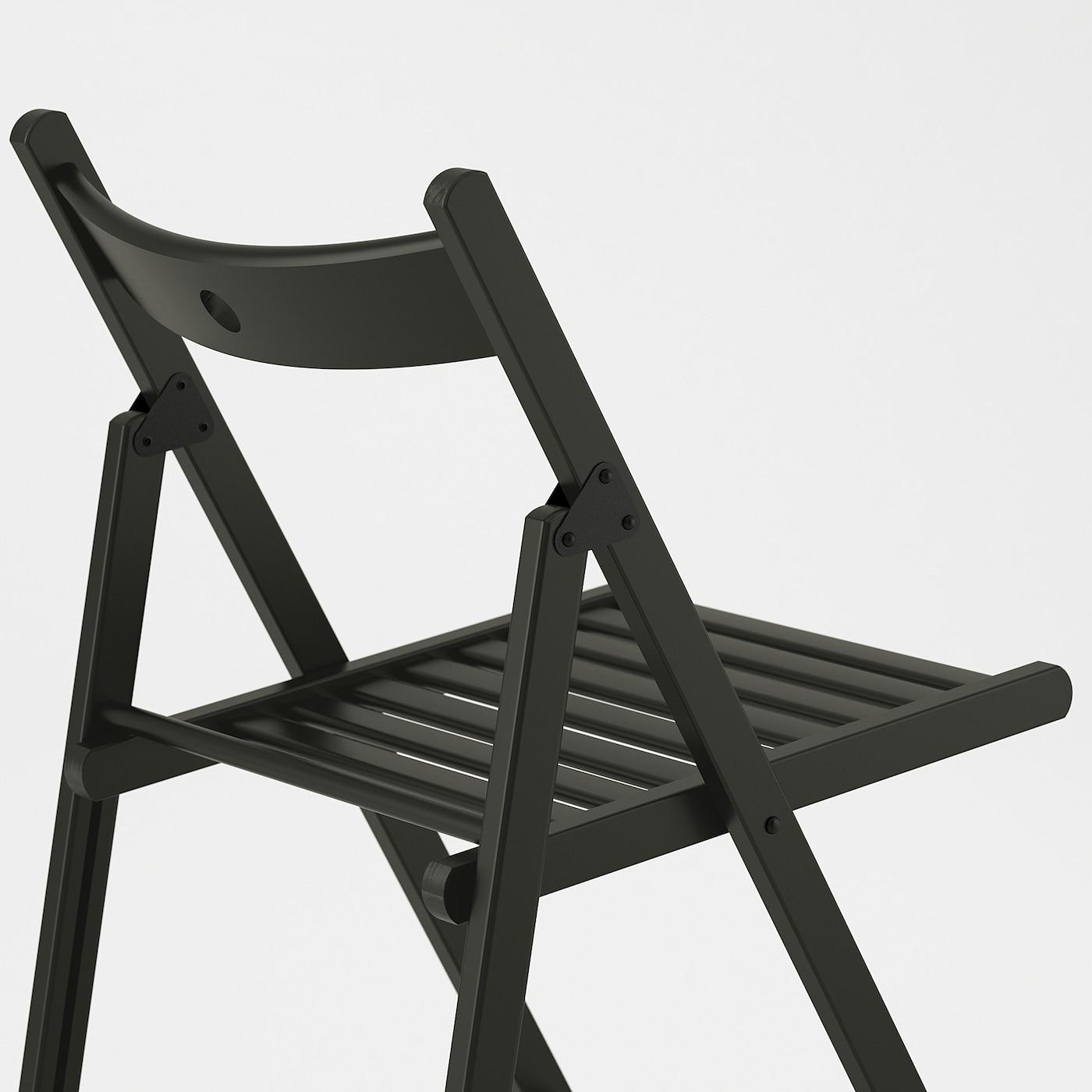 TERJE Chaise pliante - noir
