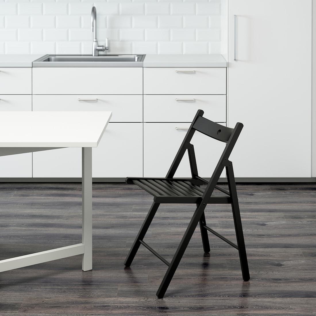 TERJE Chaise pliante, noir, matériau durable - IKEA