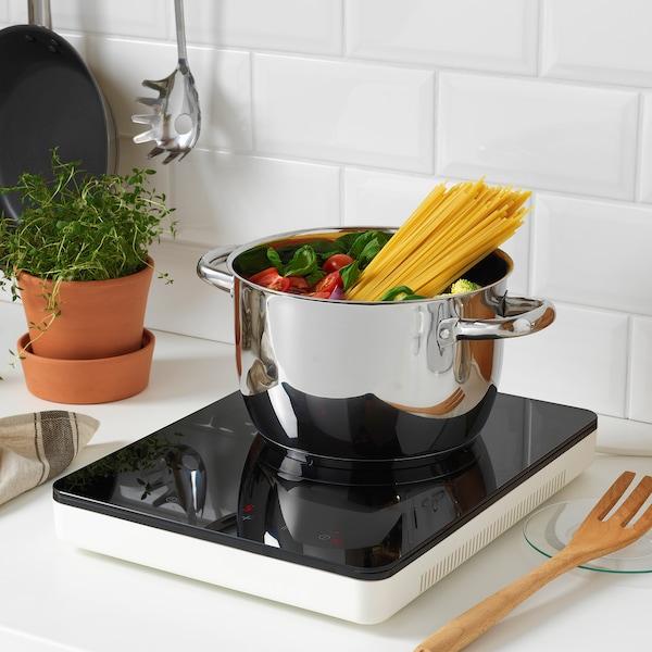 TILLREDA Table de cuisson à induction mobile, blanc