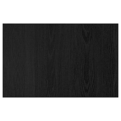 TIMMERVIKEN Porte/face de tiroir, noir, 60x38 cm