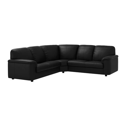 timsfors canap d 39 angle 2 2 places mjuk kimstad noir ikea. Black Bedroom Furniture Sets. Home Design Ideas