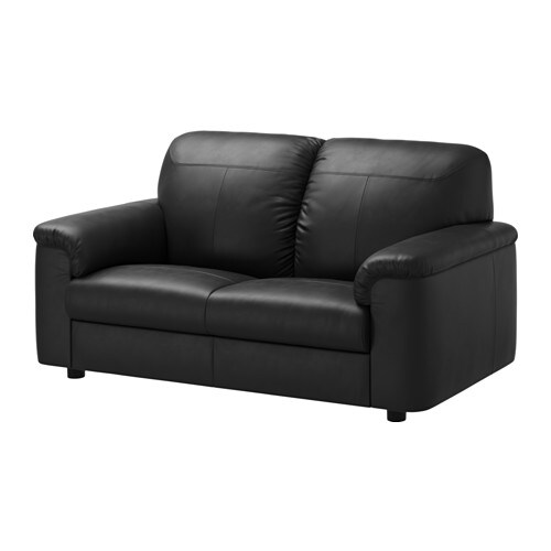 timsfors canap 2 places mjuk kimstad noir ikea. Black Bedroom Furniture Sets. Home Design Ideas