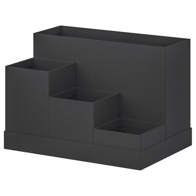 TJENA Organiseur bureau, noir, 18x17 cm