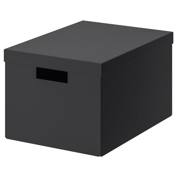TJENA Boîte de rangement avec couvercle - noir - IKEA