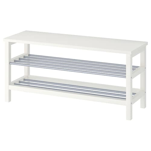 Tjusig Banc Avec Rangement Chaussures Blanc 108x50 Cm Ikea