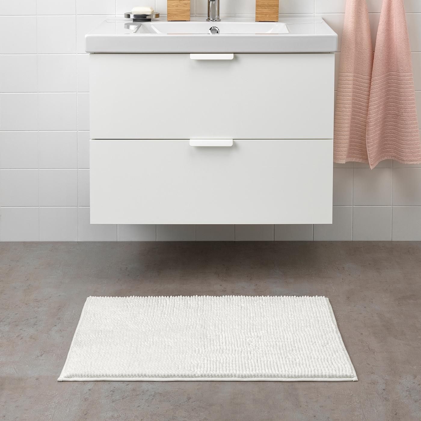 Toftbo Tapis De Bain Blanc Ikea