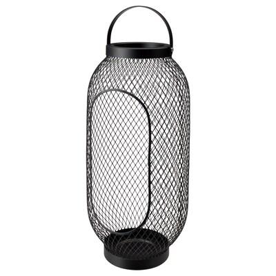 TOPPIG lanterne pour bougie bloc noir 49 cm