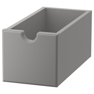 TORNVIKEN Boîte, gris, 16x34x15 cm