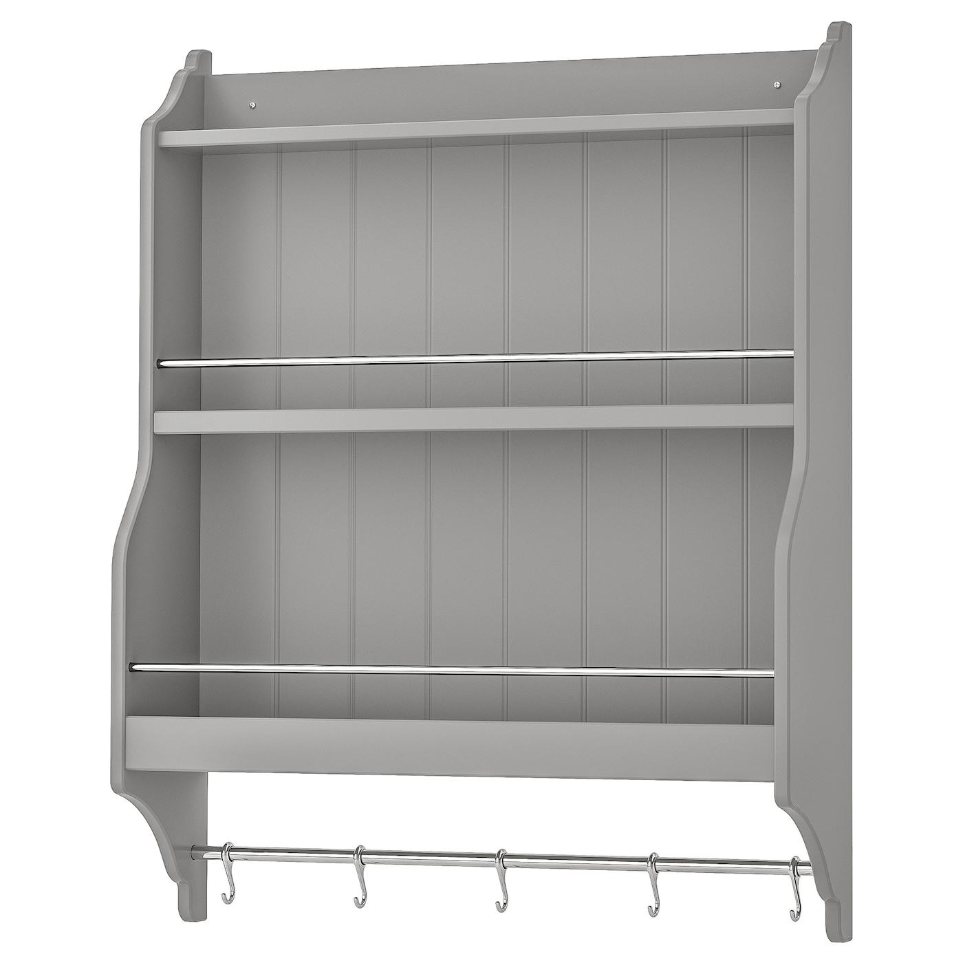TORNVIKEN Étagère porte-assiettes - gris 15x15 cm