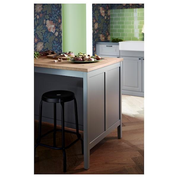 TORNVIKEN Îlot pour cuisine, gris, chêne, 126x77 cm IKEA