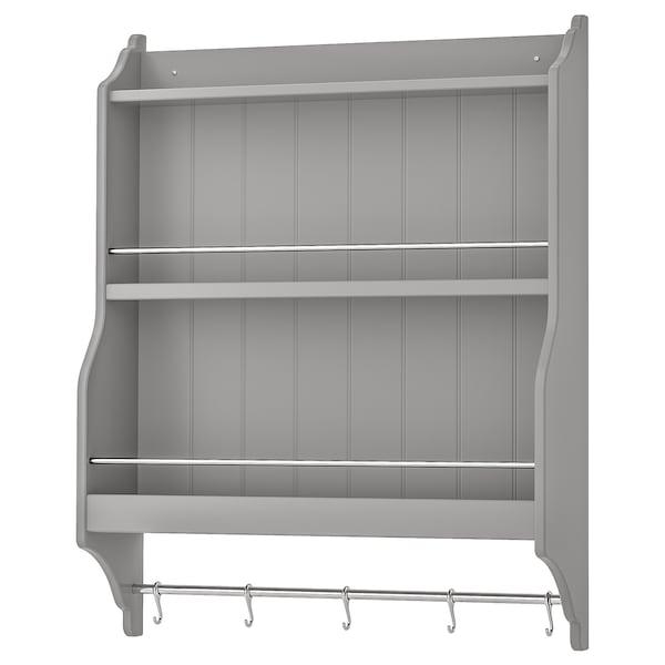 TORNVIKEN Étagère porte assiettes, gris IKEA