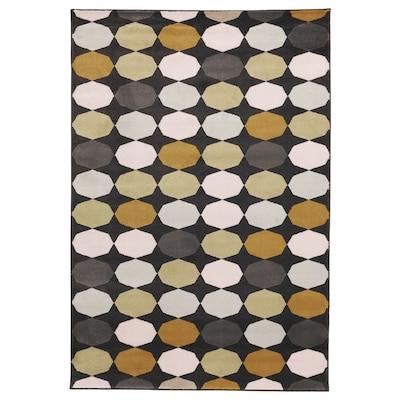 TORRILD Tapis, poils ras, multicolore, 133x195 cm