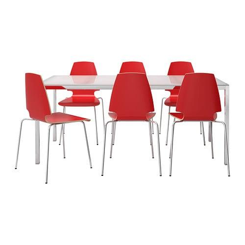Torsby vilmar table et 6 chaises ikea for Ikea chaises pliantes et empilables