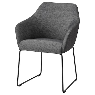 TOSSBERG Chaise, métal noir/gris