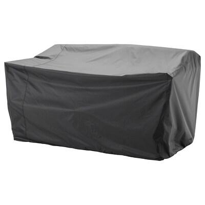 TOSTERÖ Housse pour meubles d'extérieur, canapé/noir, 170x100 cm