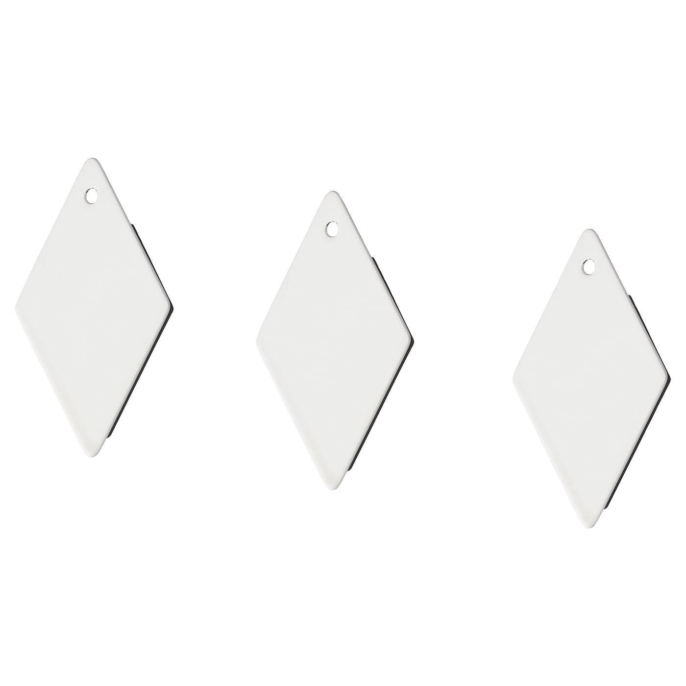 NEUF IKEA Aimants losange blanc lot de 3 Réfrigérateur Mémo Avis Board