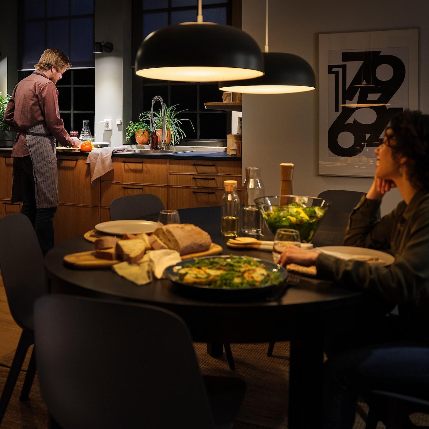 Tradfri Ampoule Led E27 1000 Lumen Sans Fil Spectre Blanc Opalin Ikea