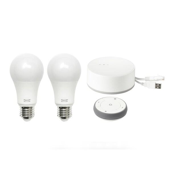 Tradfri Kit Avec Passerelle Spectre Couleur Et Blanc E27 Ikea