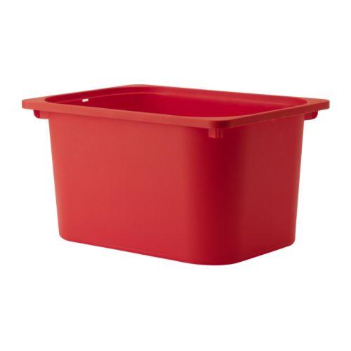 Trofast bac rouge ikea - Ikea bac rangement plastique ...