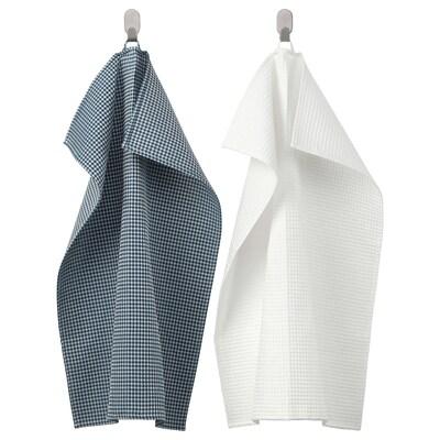 TROLLPIL torchon blanc/bleu 70 cm 50 cm 2 pièces