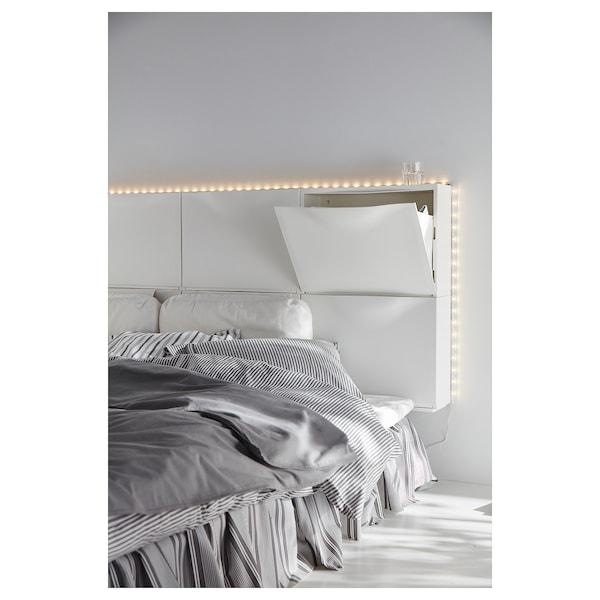 TRONES Armoire à chaussures/rangement, blanc, 52x18x39 cm