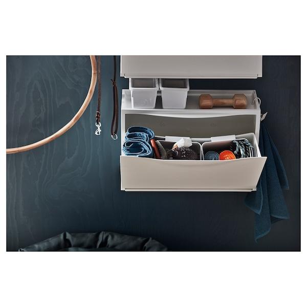 TRONES armoire à chaussures/rangement blanc 52 cm 18 cm 39 cm 2 pièces