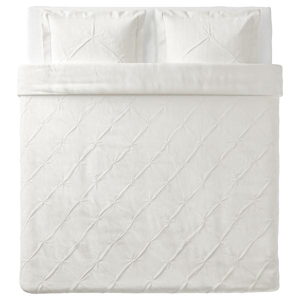 TRUBBTÅG Housse de couette et 2 taies, blanc, 240x220/65x65 cm