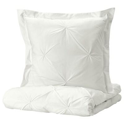 TRUBBTÅG Housse de couette et taie, blanc, 150x200/65x65 cm