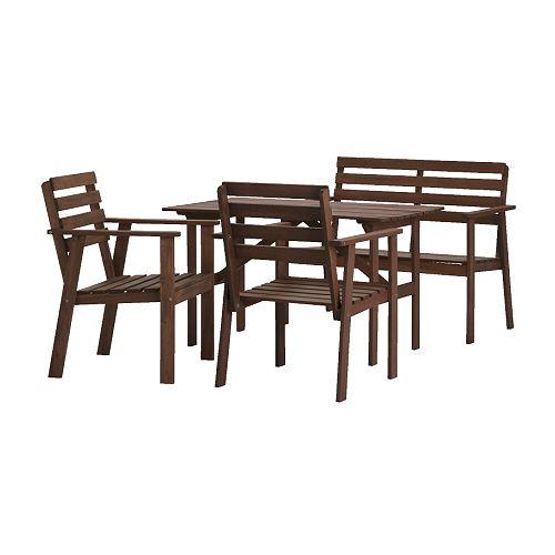 TULLERÖ Table, banquette et 2 fauteuils IKEA