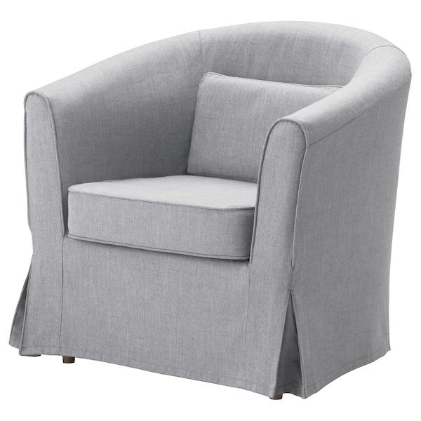 TULLSTA Housse de fauteuil, Nordvalla gris moyen