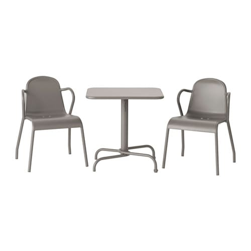 tunholmen table 2 chaises ext rieur gris ikea. Black Bedroom Furniture Sets. Home Design Ideas