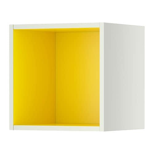 Tutemo rangement ouvert blanc jaune 40x37x40 cm ikea - Cube de rangement ikea ...