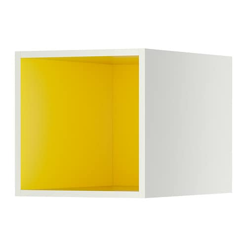 TUTEMO Rangement ouvert , blanc, jaune Largeur: 40.0 cm Profondeur: 60.0 cm Hauteur: 40.0 cm