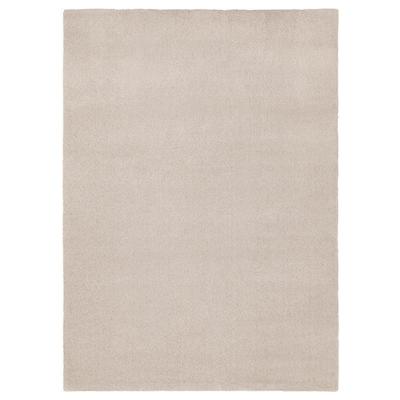 TYVELSE Tapis, poils ras, blanc cassé, 170x240 cm